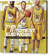 This Is A Moment, Everyone The Warriors Joy Ride Toward Nba Sports Illustrated Cover Acrylic Print