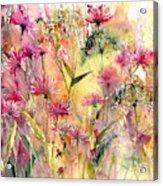 Thistles Impression Acrylic Print