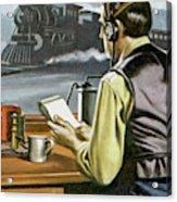 Thomas Edison, The Railway Telegraphist  Acrylic Print