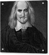 Thomas Hobbes English Philosopher, Engraving Acrylic Print