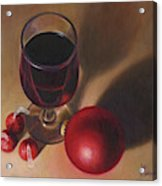 Three Kisses And A Glass Of Port Acrylic Print