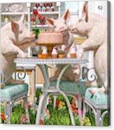 Three Little Pigs And The Birthday Cake Acrylic Print