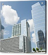 Three Modern Buildings In Different Acrylic Print