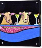Three Sheeps To The Wind  Acrylic Print