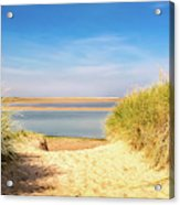 Through The Dunes Over To Budle Bay Acrylic Print