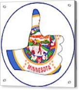Thumbs Up Minnesota Acrylic Print