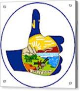 Thumbs Up Montana Acrylic Print