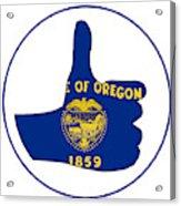 Thumbs Up Oregon Acrylic Print