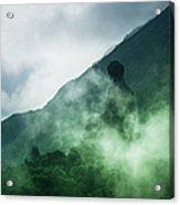 Tian Tan Buddha On Hill In Clouds Acrylic Print