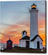Tibbetts Point Light At Sunset Acrylic Print
