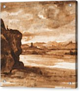 Tiber Landscape North Of Rome Wi  Acrylic Print