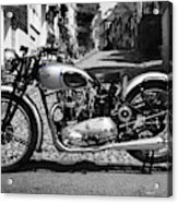 Tiger T100 Vintage Motorcycle Acrylic Print
