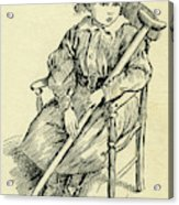 Tiny Tim From A Christmas Carol By Charles Dickens Acrylic Print
