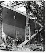 Titanic In Belfast Dry Dock 1911 Acrylic Print
