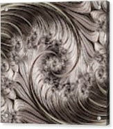 Titanium Double Fractal Spiral Acrylic Print