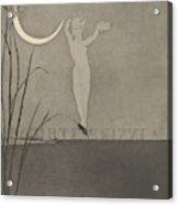 Titelblatt From The Series Radierte Skizzen Acrylic Print