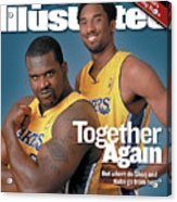 Together Again But Where Do Shaq And Kobe Go From Here Sports Illustrated Cover Acrylic Print