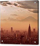 Tokyo And Mount Fuji Acrylic Print