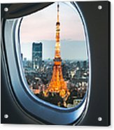 Tokyo Skyline With The Tokyo Tower Acrylic Print