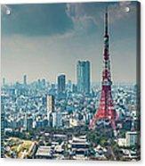Tokyo Tower Futuristic Skyscraper Acrylic Print