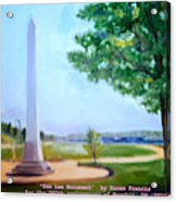 Tom Lee Monument Anniversary Print Acrylic Print