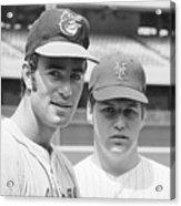Tom Seaver And Jim Palmer At Baseball Acrylic Print
