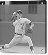 Tom Seaver In Pitching Stance Acrylic Print