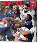 Toronto Blue Jays Joe Carter, 1992 World Series Sports Illustrated Cover Acrylic Print