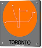 Toronto Orange Subway Map Acrylic Print
