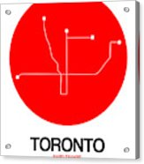 Toronto Red Subway Map Acrylic Print