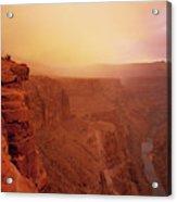 Toroweap Overlook Storm Sunrise Acrylic Print