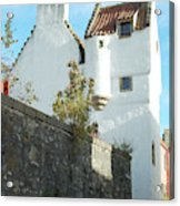 towerhouse and turret at Culross Acrylic Print