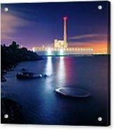 Toxic Beach With Power Plant Acrylic Print