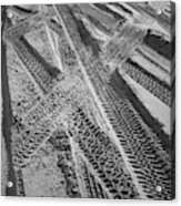 Tracks In The Sand Acrylic Print