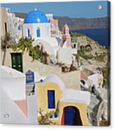 Traditional Greek Houses And Curch Acrylic Print