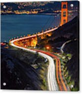 Traffic Racing Over The Golden Gate Bridge Acrylic Print