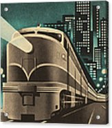 Train Leaving City Acrylic Print