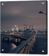 Transmitter Park Pier, Brooklyn Acrylic Print