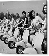 Transport. Scooters. Pic Circa 1955. A Acrylic Print