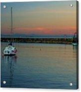 Trawler And A Yacht Acrylic Print