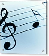 Treble Clef And Notes Acrylic Print