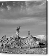 Tres Marias Black And White Moon Valley Chile Acrylic Print