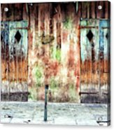 Triangle Doors At Preservation Hall In New Orleans Acrylic Print