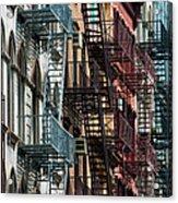 Tribeca Fire Escapes Acrylic Print