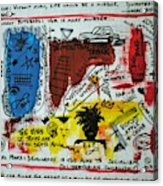 Tribute To Basquiat, Philosophy, And Activism Acrylic Print
