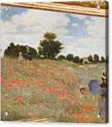 Tribute To Claude Monet Acrylic Print