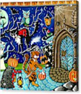 Trick Or Treat Halloween Cats Acrylic Print