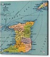 Trinidad & Tobago Map Acrylic Print