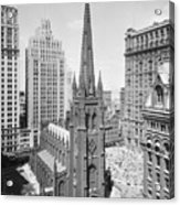 Trinity Church On Wall Street Acrylic Print