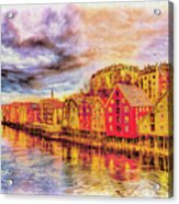 Trondheim - Waterfront Evening Acrylic Print